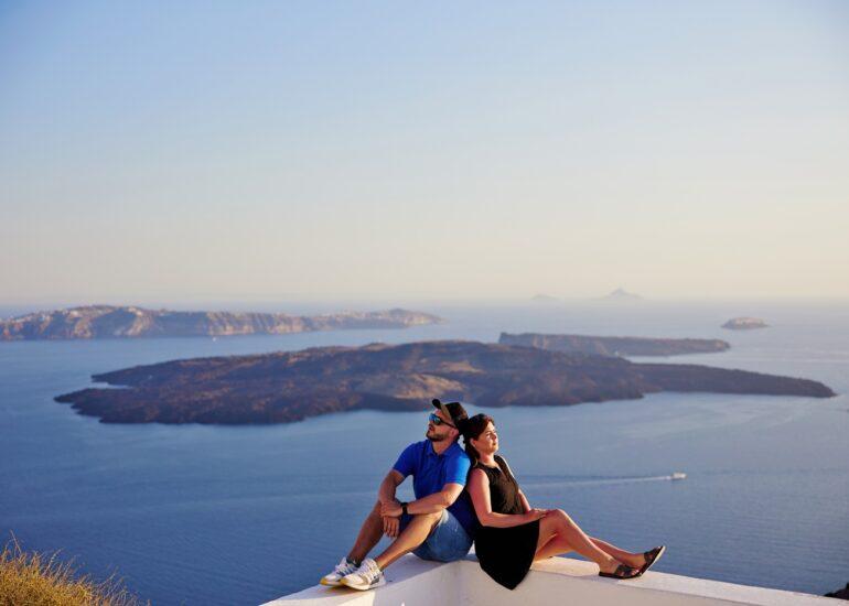 sesja zdjęciowa na Santorini